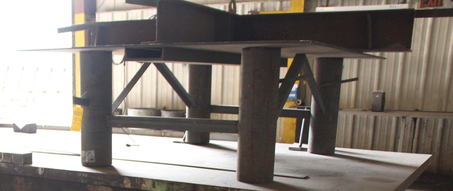 "74"" X 95"" X 30"" STEEL TABLE: STOCK 11834"