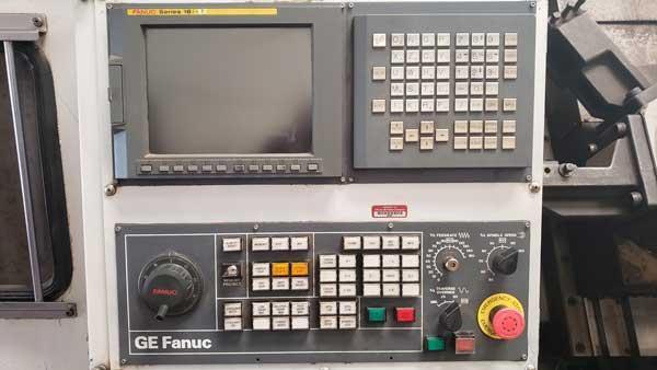 "MORI SEIKI SL-8C CNC CHUCKING CENTER, Fanuc 18iT CNC Control, Big Bore Air Chucks Front and Rear Extended Stroke, 14.5"" Bar Capacity, Chip Conveyor."