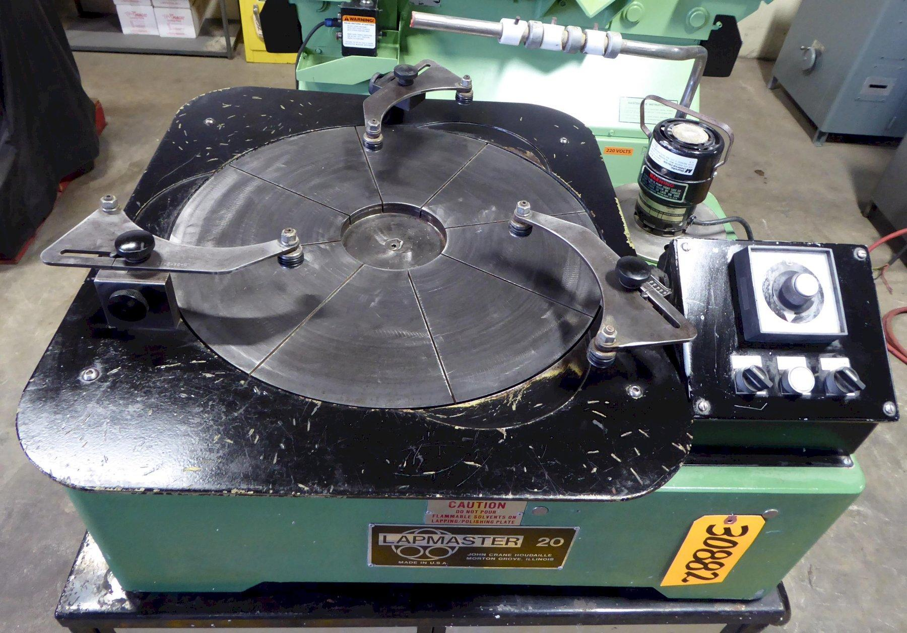 """20"""" Lapmaster Lapping Machine No. 20C, (3) Rings, Open Face, Bench Model"""
