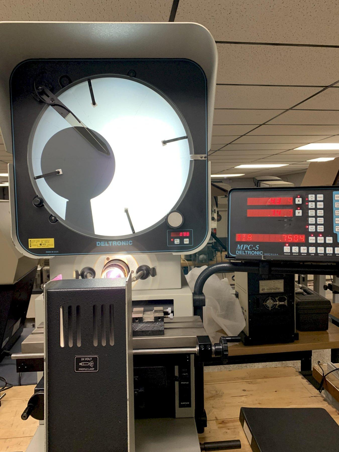 """16"""" Deltronic Model DH216 Bench Top Optical Comparator, S/N 398035768, New 1998."""