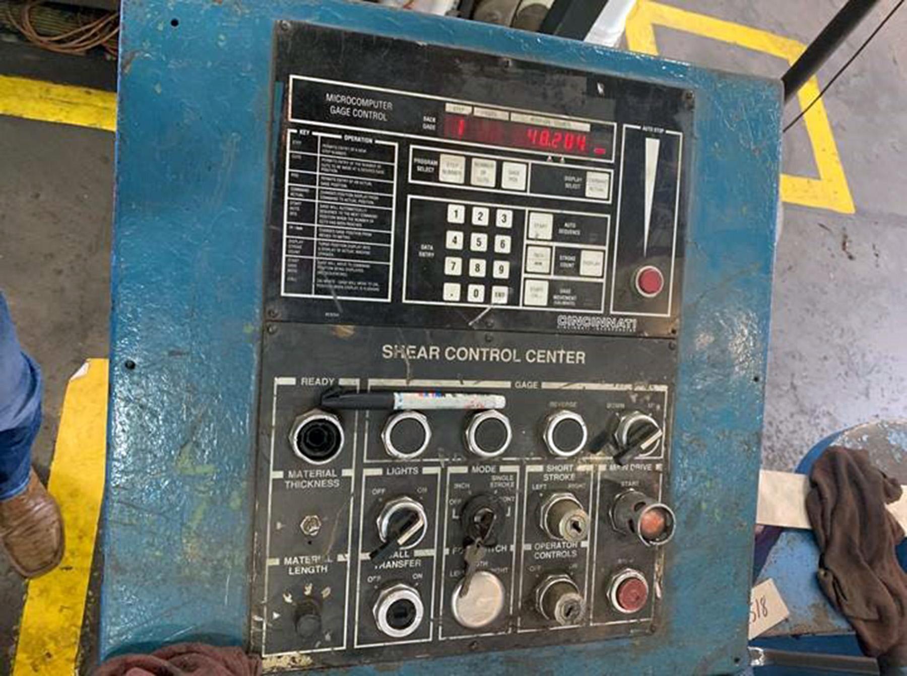 """USED, 3/4"""" X 144"""" CINCINNATI MODEL 6SE12 HYDRAULIC POWER SQUARING SHEAR"""