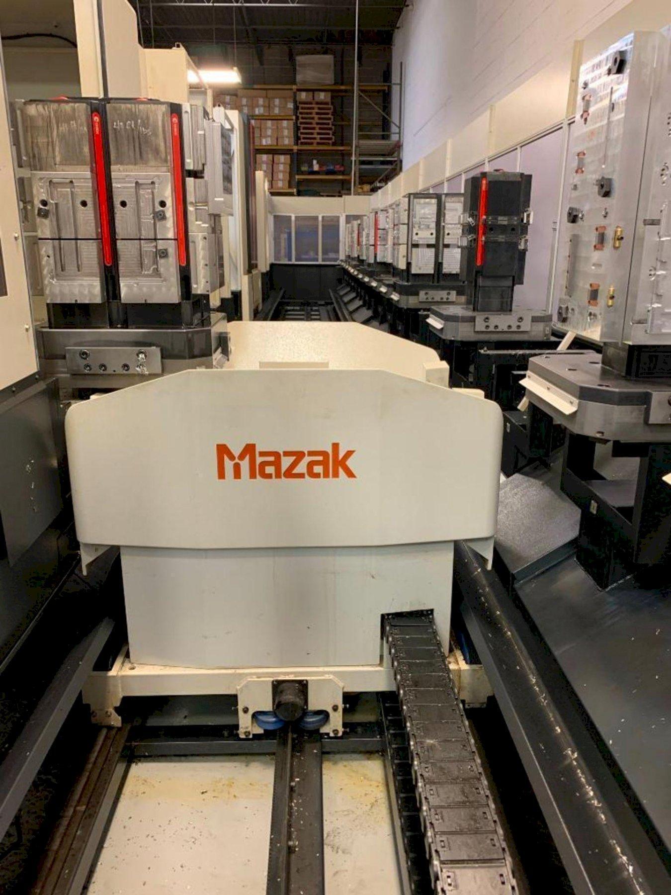 "Mazak HCN-5000 II CNC Horizontal Machining Centers(2) w/Palletech 18-Station Cell, Nexus Control, 19.7"" Pallets, 18K Spindle, 120 Position ATC, CTS, CAT 40, (3) Loading Stations, 2008/2011"