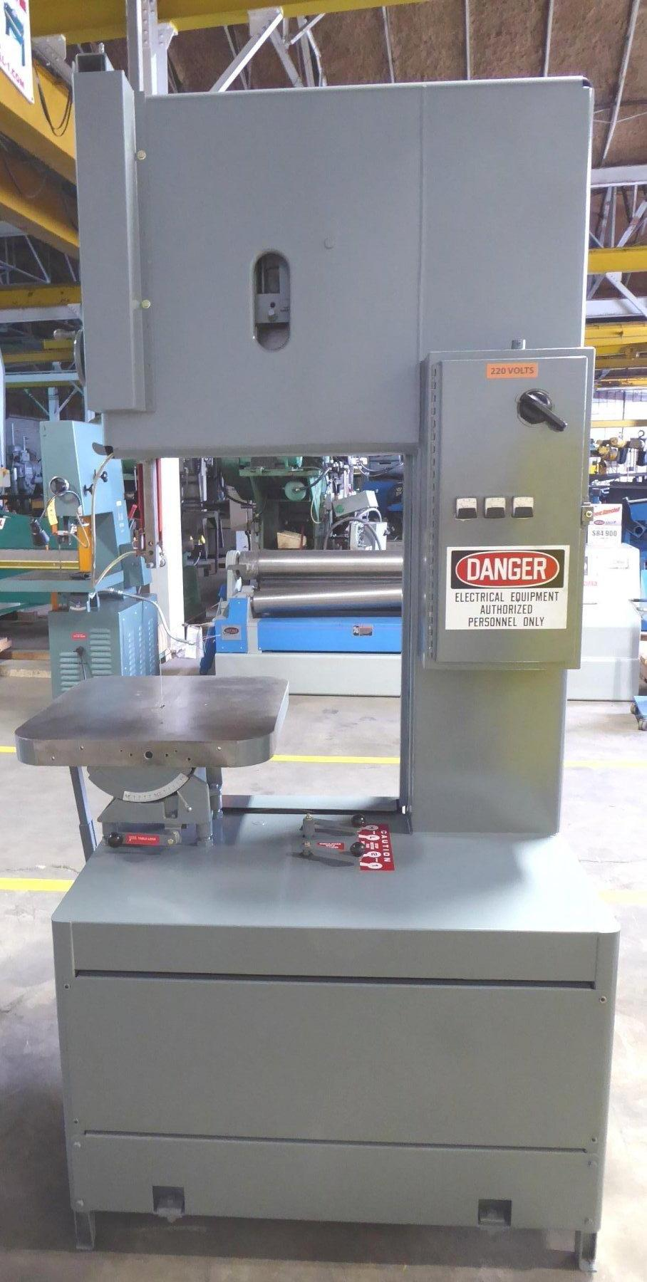 """24"""" Grob Vertical Band Saw No. 4V-24, 40-5000 FPM, 28"""" x 24"""" Tbl., Extra Height-20"""" Under Guide, 1999"""
