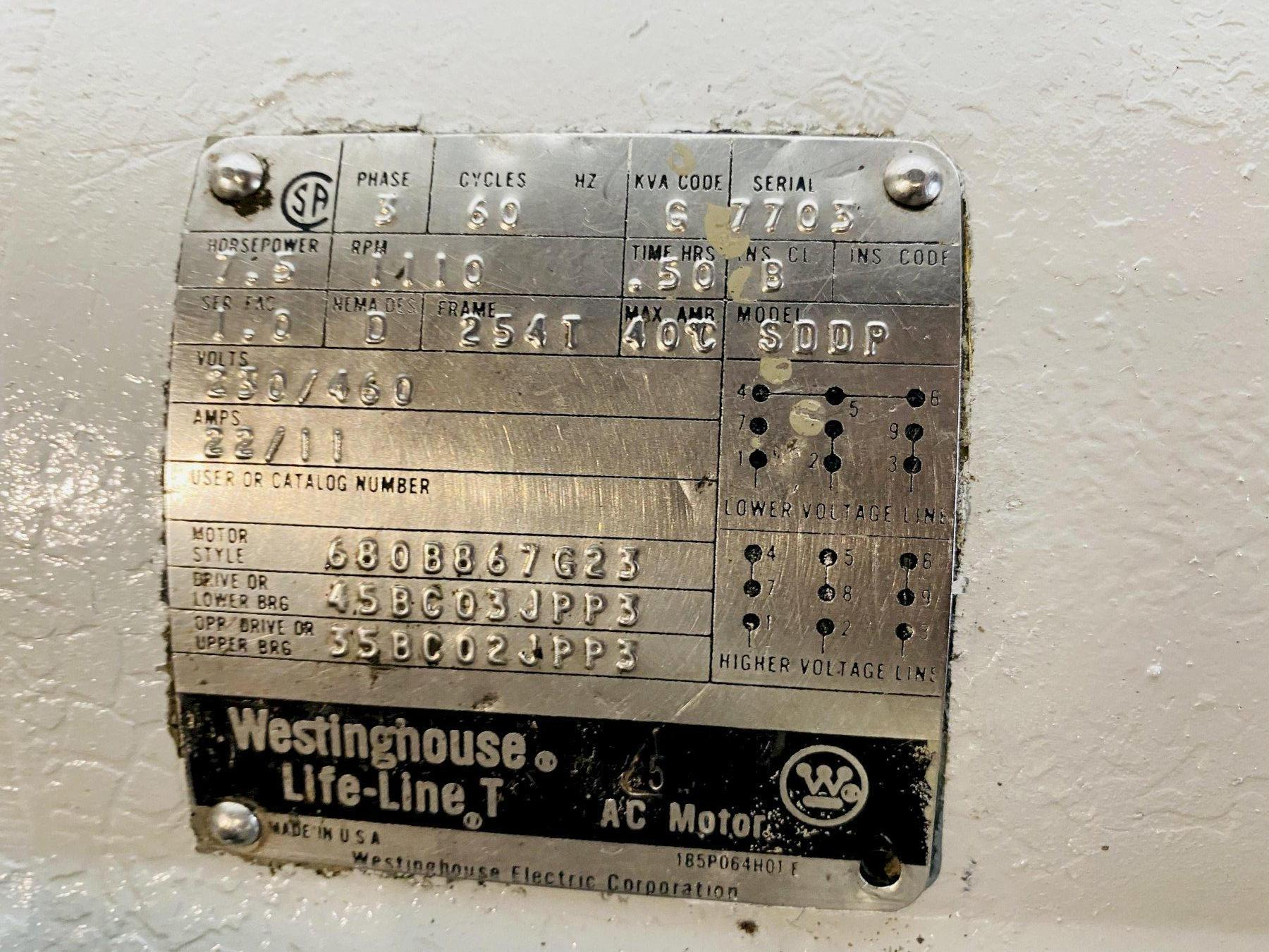"""10' X 1/2"""" 9L-1210 WEBB 3 ROLL INITIAL PINCH PLATE ROLL. STOCK # 0518521"""