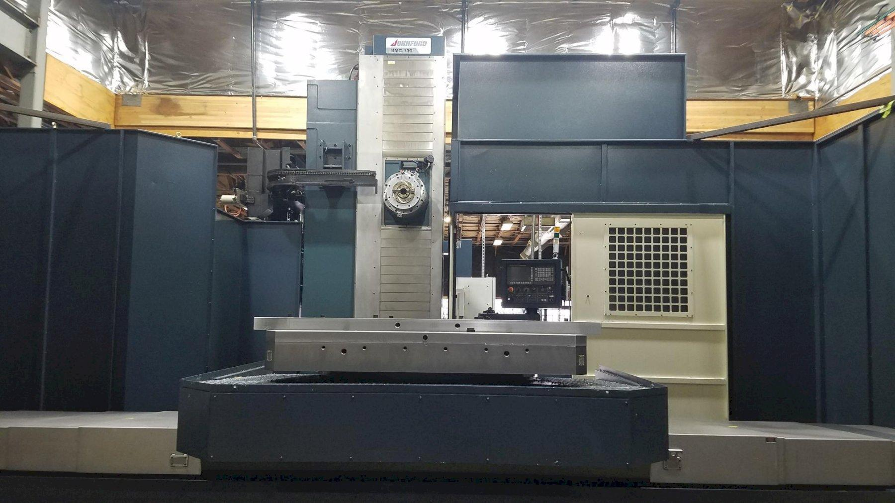 "Johnford BMC-130 5-Axis CNC Horizontal Boring Mill, Trvls: X-118"", Y-90.5"", Z-63"", W-27.5"", 2500 RPM, 60 ATC, B-Axis Rotary Table (Only 17 Hours) New 2019"