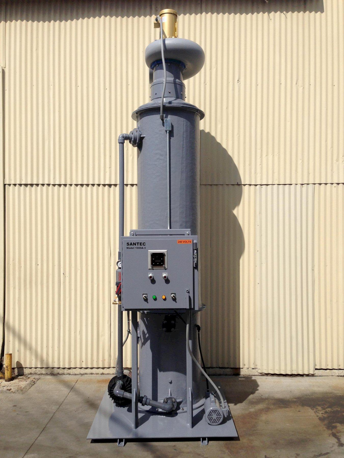 Packed Tower Wet Fume Scrubber SANTEC Foundry Amine Scrubber 1000 cfm
