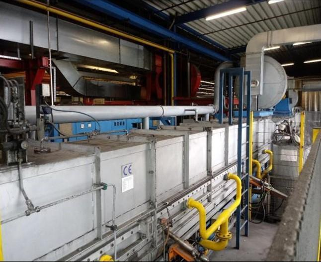20 MN Extrusion Press with Log Heater and Hot Shear