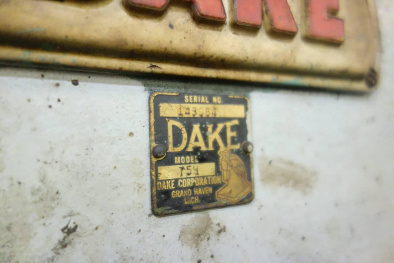 75 TON DAKE MODEL #75H HAND OPERATED HYDRAULIC H-FRAME PRESS: STOCK #15333