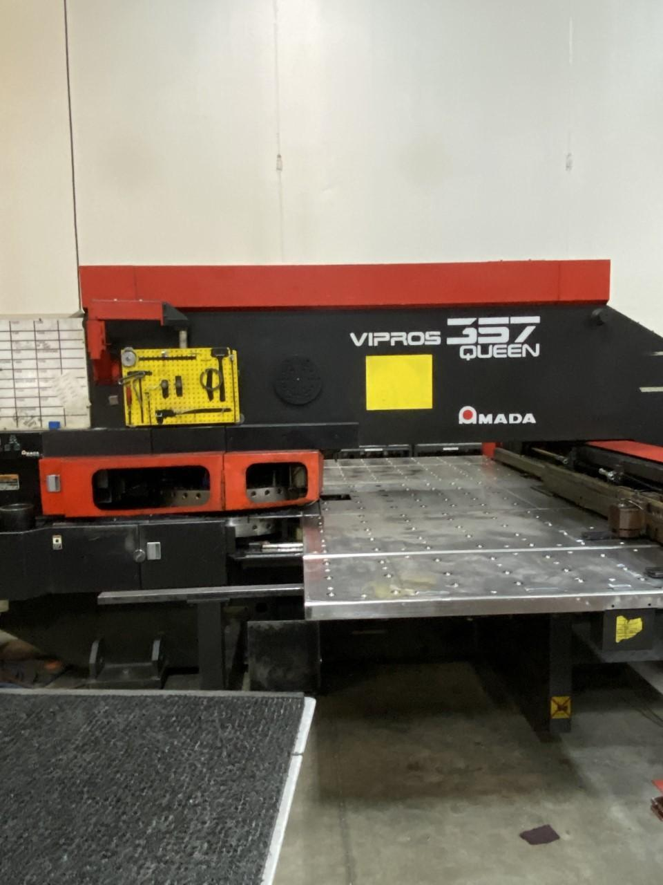 """1997 Amada Vipros 357 Queen, 33 Ton, 50"""" x 72"""" Travel CNC Turret Punch"""
