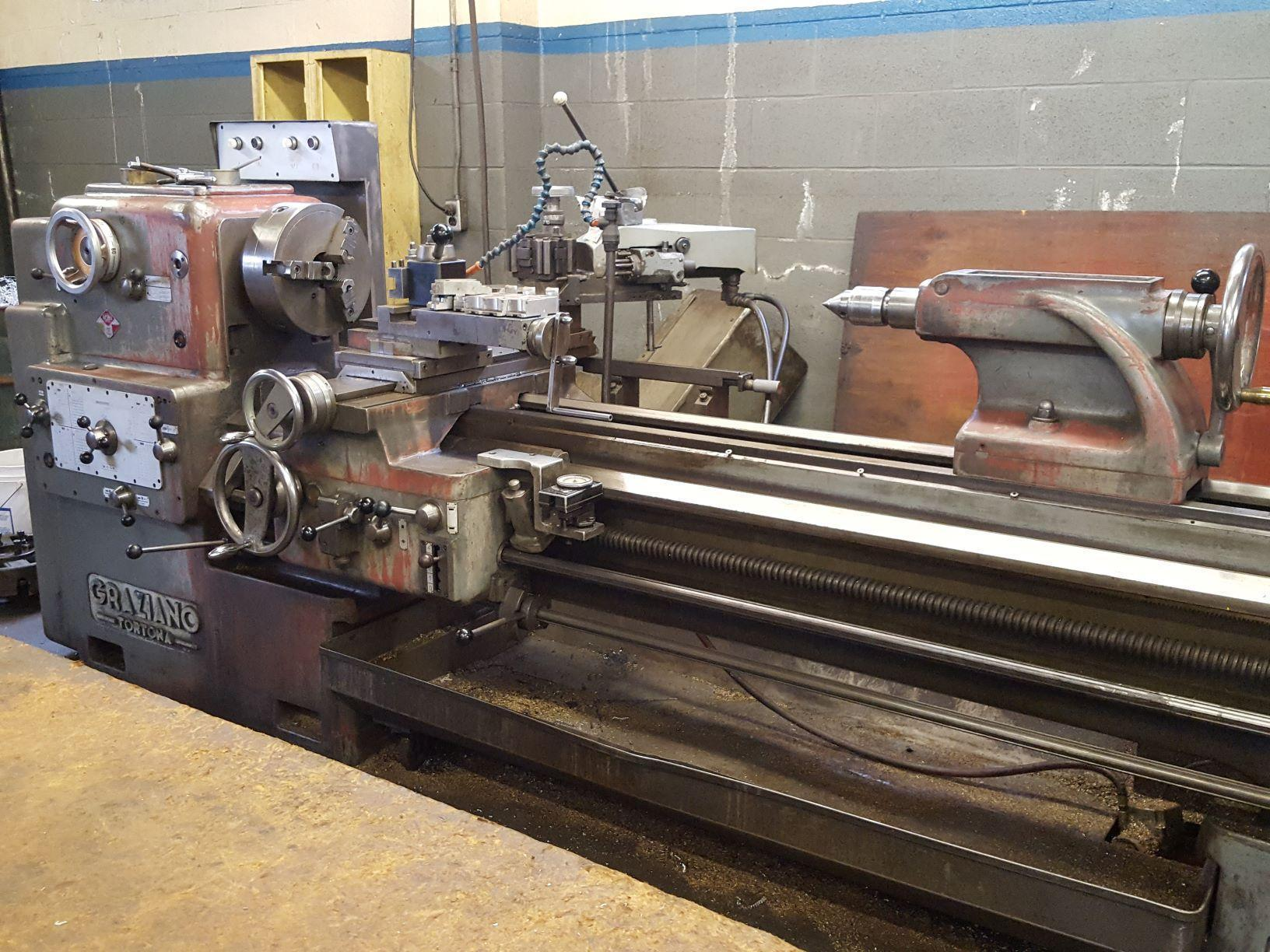 "GRAZIANOGraziano SAG20 Gap Bed Lathe  27 7/8"" swing over gap, 80"" between centers, 2 1/4"" spindle"