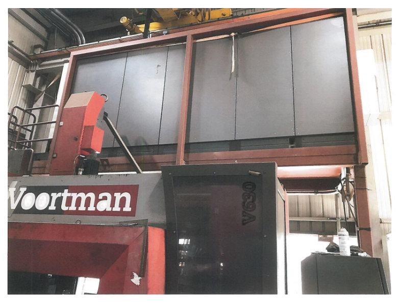 USED VOORTMAN CNC BEAM DRILL LINE WITH V630/1000 DRILL & VB1050 PROGRAMMABLE MITERING BANDSAW Stock# 10603, Year 2007