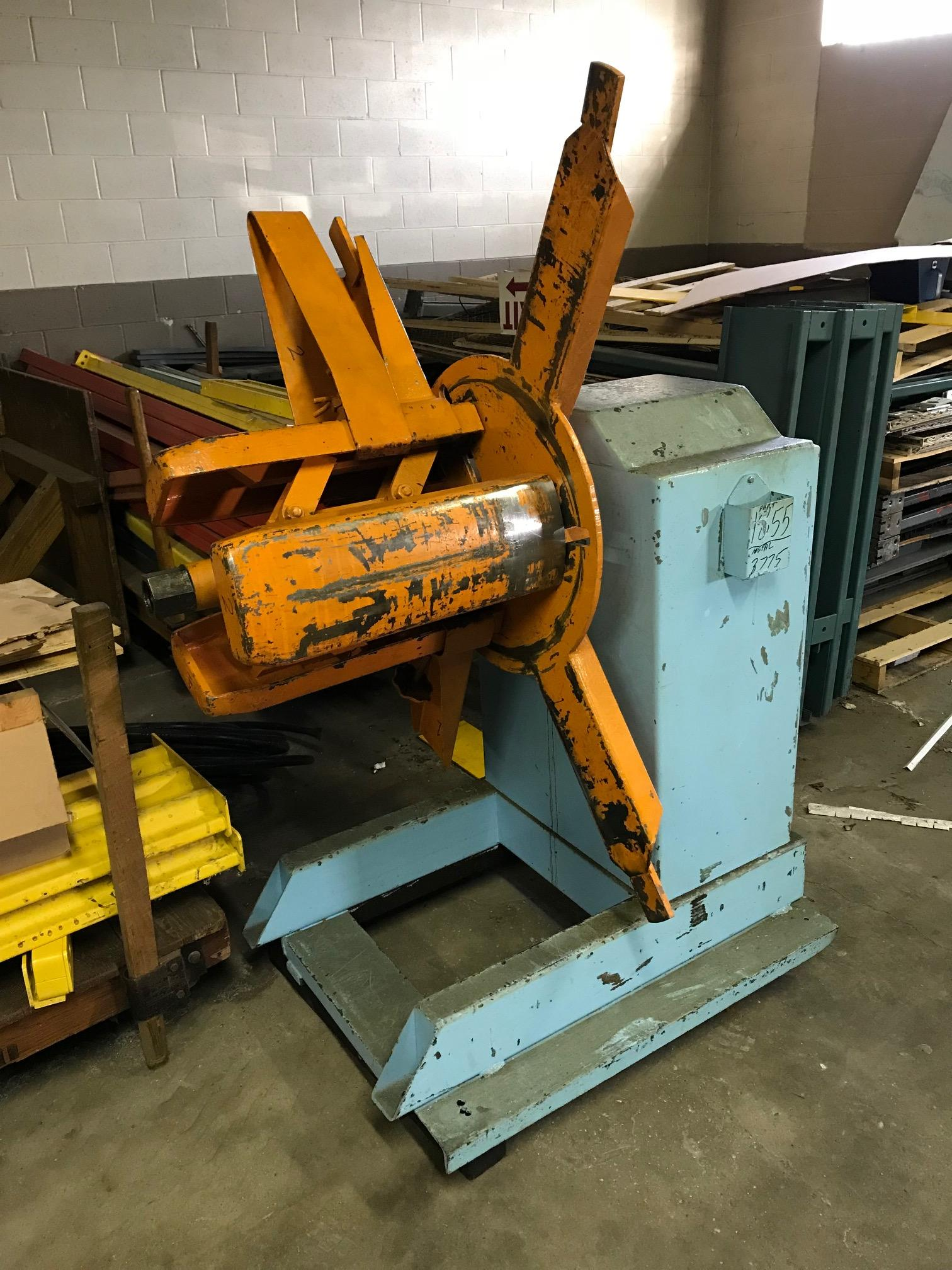 American Steel Line Pull-Off Coil Reel Uncoiler 2,500 Lbs.