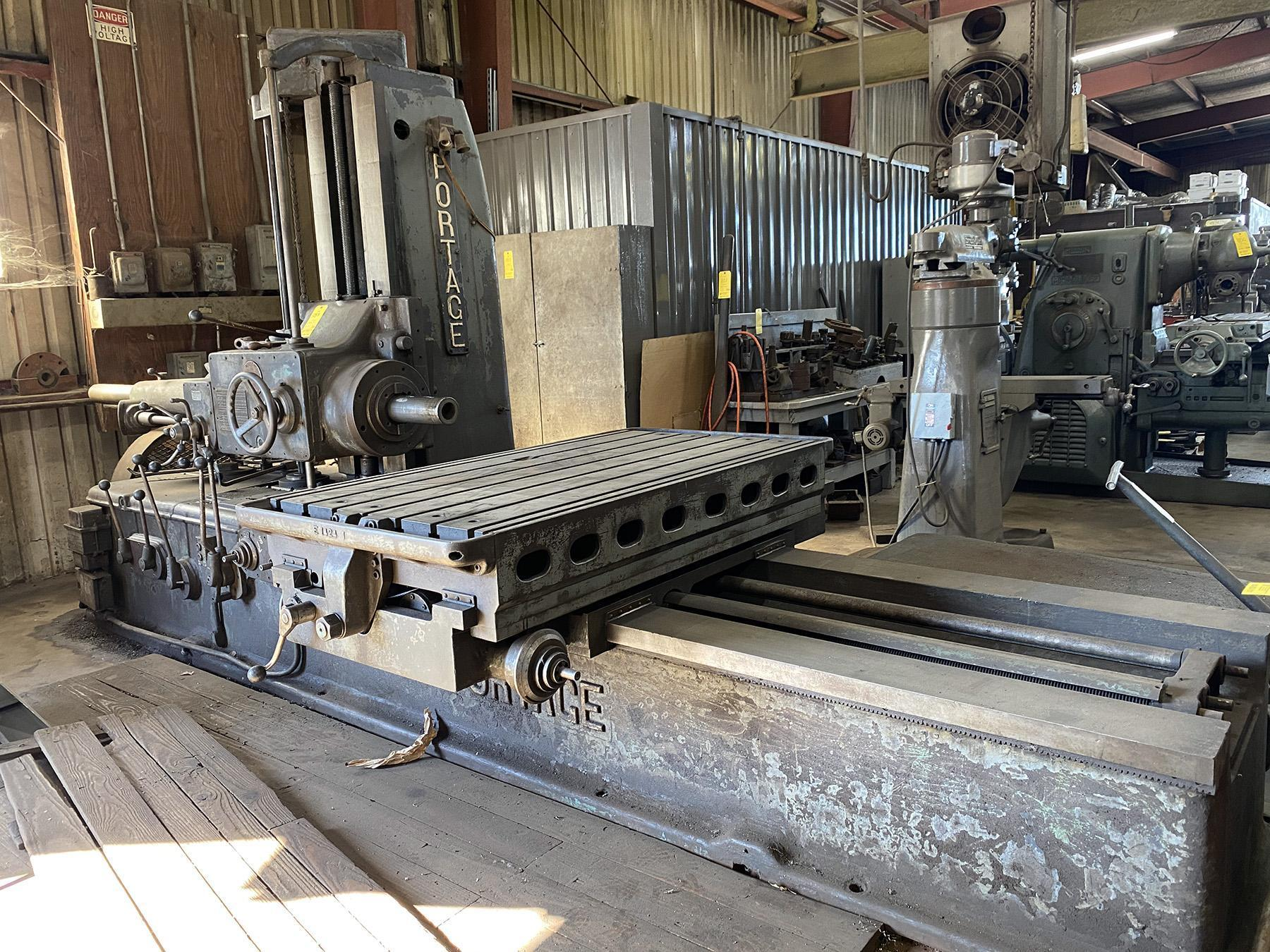 "USED, 4"" PORTAGE NO. 4 TABLE TYPE HORIZONTAL BORING MILL"