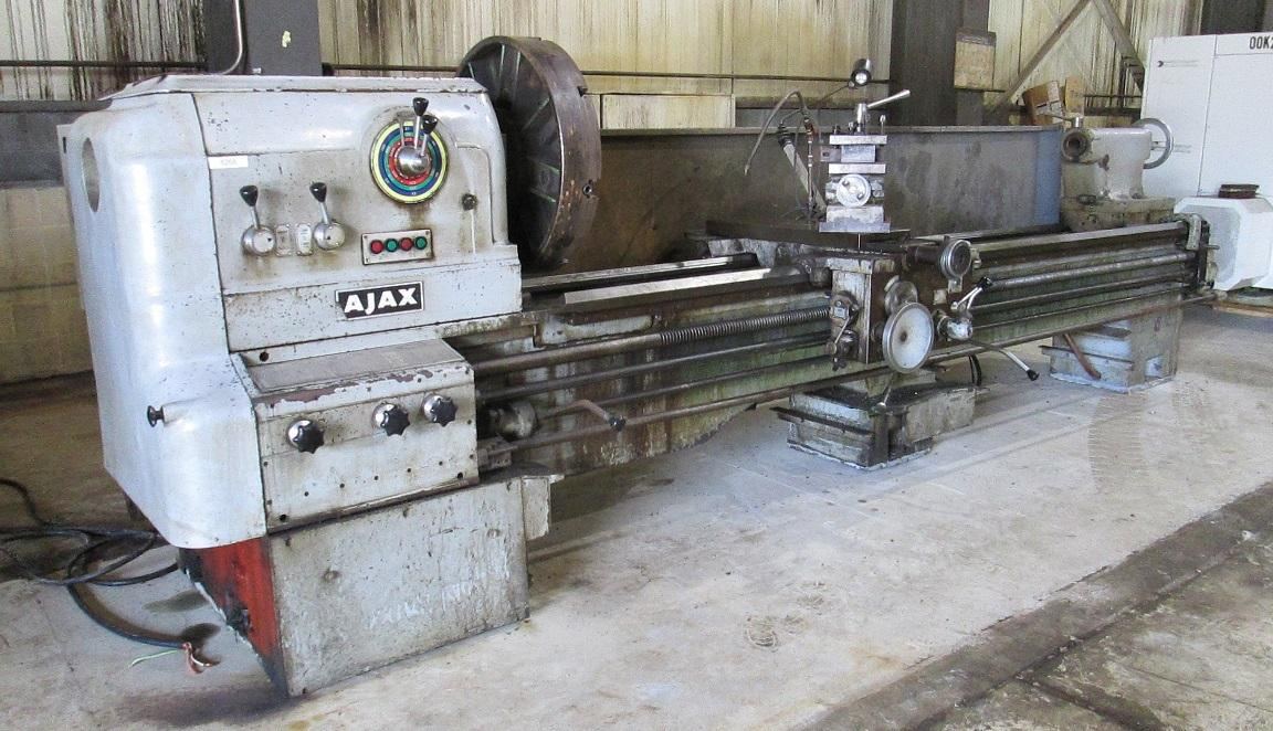 "32"" X 96"" AJAX GAP BED ENGINE LATHE: STOCK #10911"