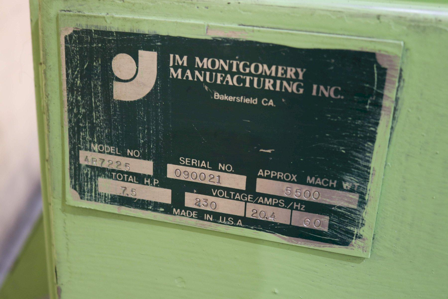6' X 1/4' MONTGOMERY MODEL #4R-7225H PLATE BENDING ROLLS; STOCK #73476