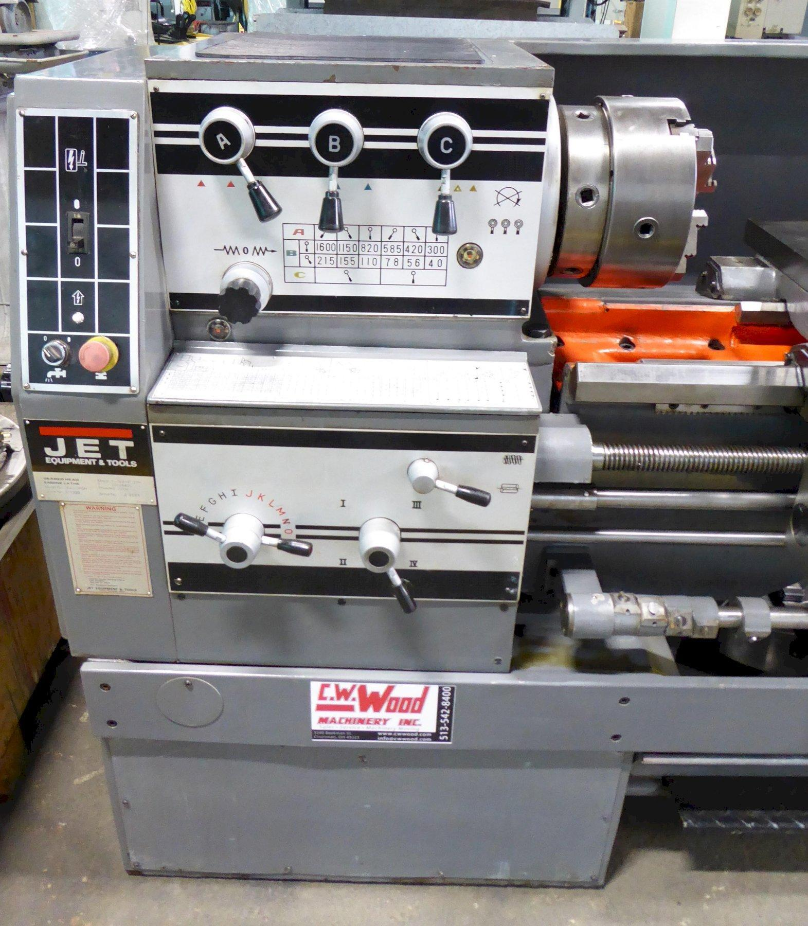 """14""""/23"""" x 40"""" Jet Lathe, Gear Head, Gap Bed, Inch/mm, Well Tooled, Excellent"""
