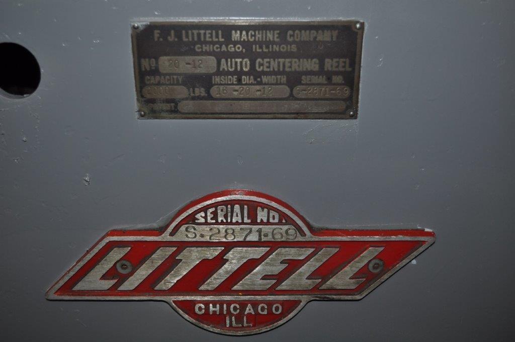 "2000 LB x 12"" Littell Non Motorized Uncoiler"