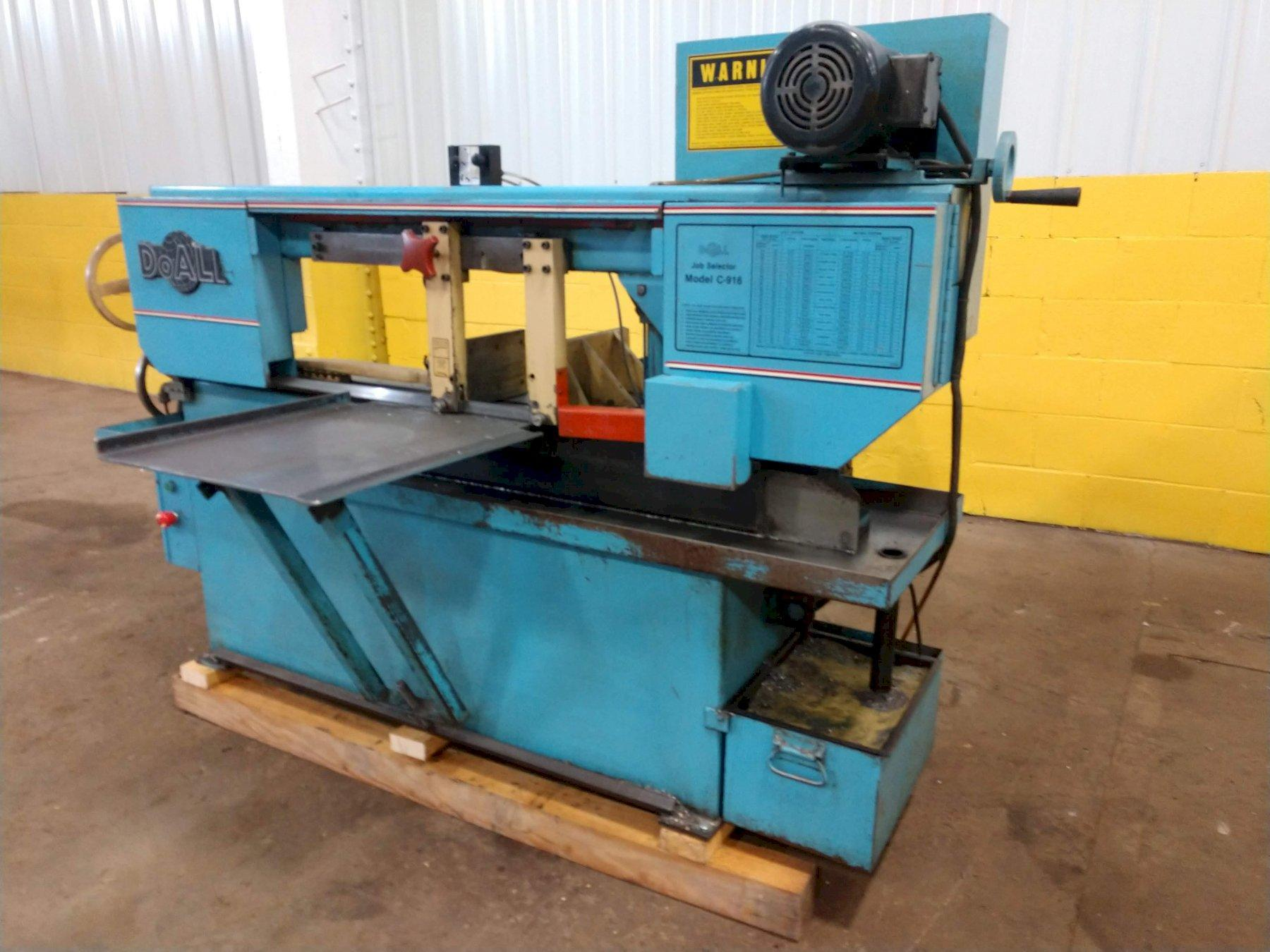 "9"" X 16"" DOALL MODEL #C-916M HORIZONTAL BAND SAW: STOCK #12746"