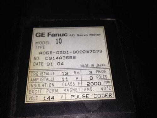 Fanuc Servo Motor Model 10 A06B-0501-B002 #7073