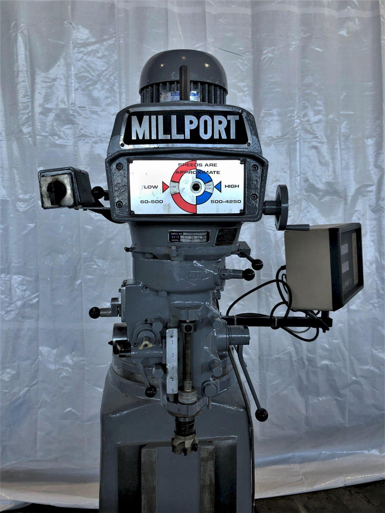 "3 HP MILLPORT 9"" X 42"" MODEL 3VKI VERTICAL MILL. STOCK # 0512819"