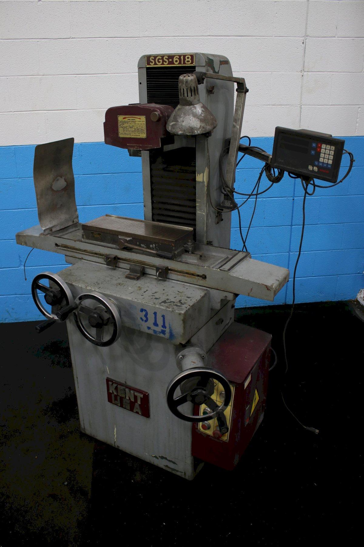 """6"""" X 18"""" KENT HAND FEED SURFACE GRINDER: STOCK #74320"""