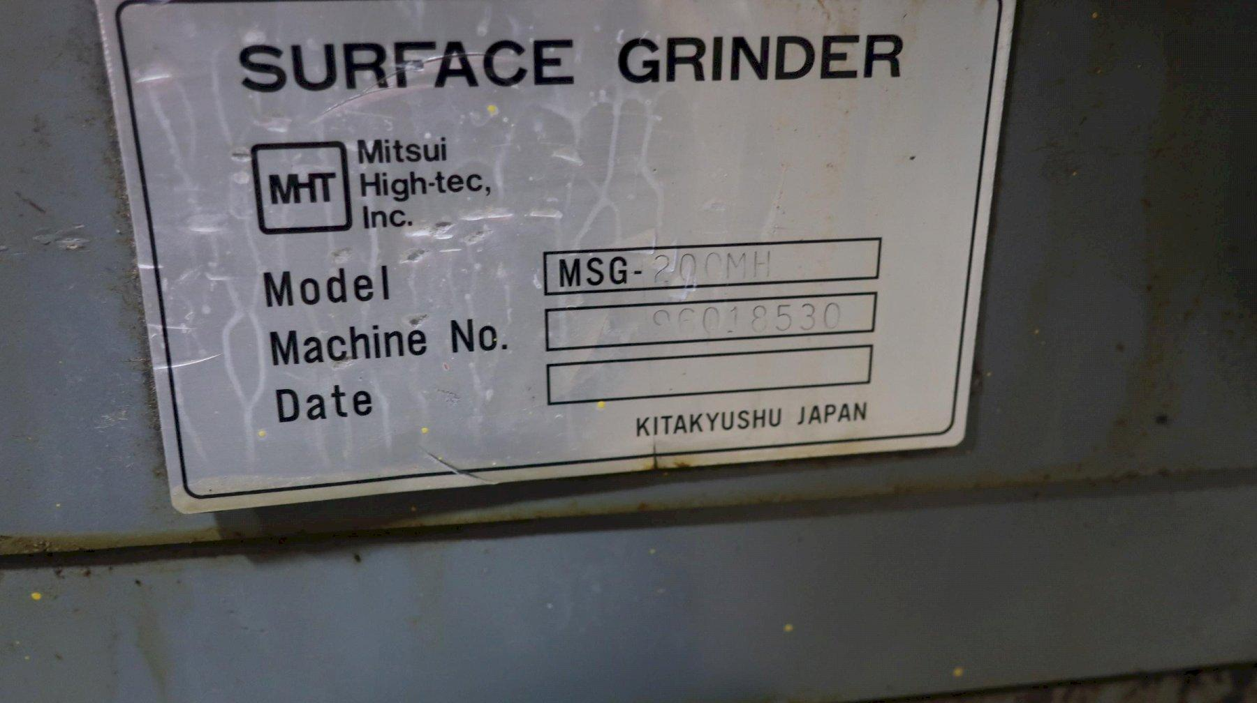 """Mitsui High-tec 200MH Hand Feed Surface Grinder, 6""""x12"""" Chuck, New 1996"""