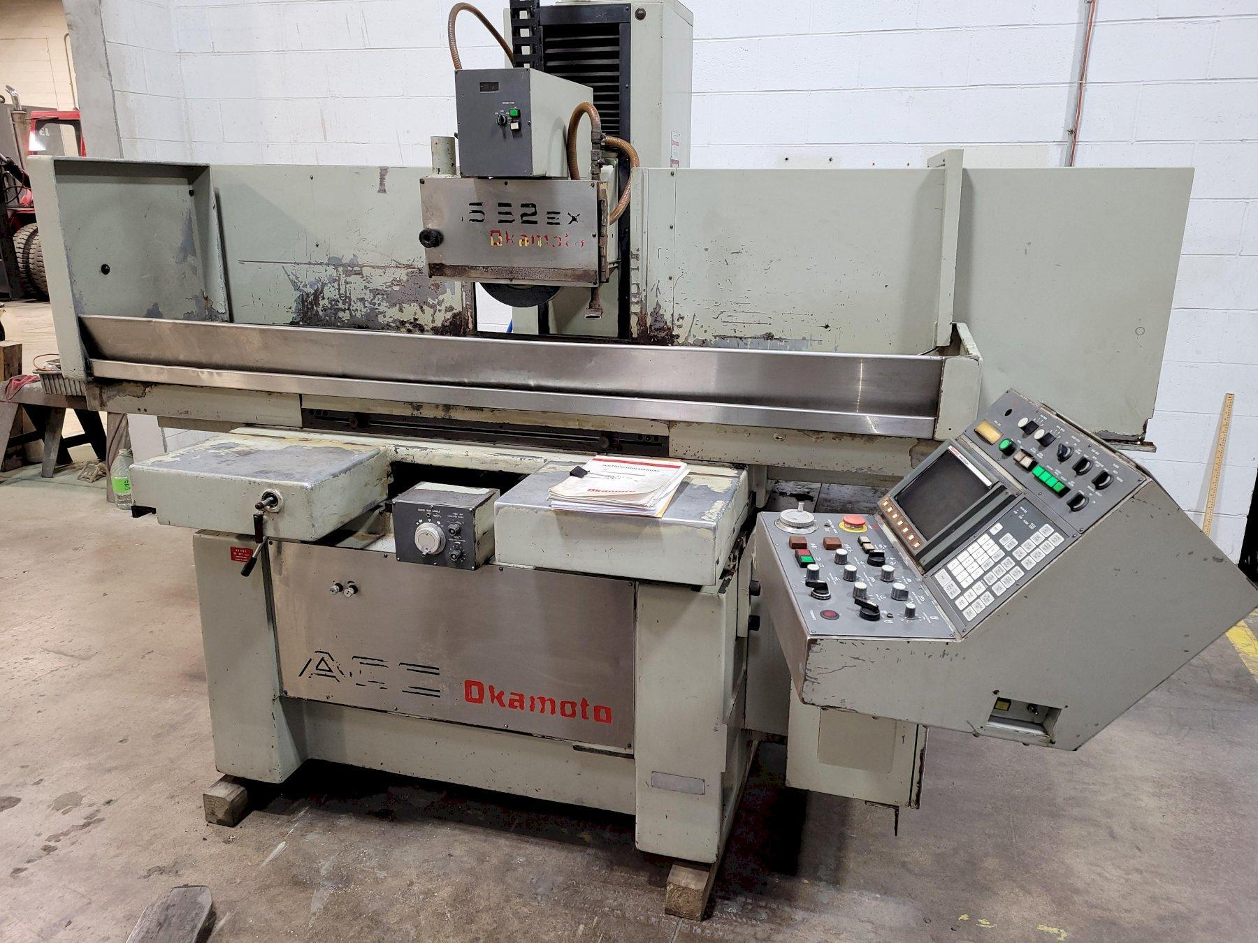 "16"" x 32"" Okamoto Model ACC-1632EX Fully Automatic 3-Axis CNC Hydraulic Surface Grinder"