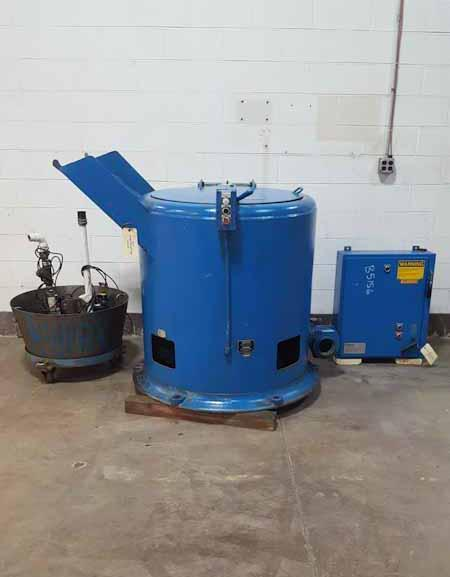 Barrett 1100 Automatic Post Type Centrifugal Sludge and Chip Spinning Oil Extractor