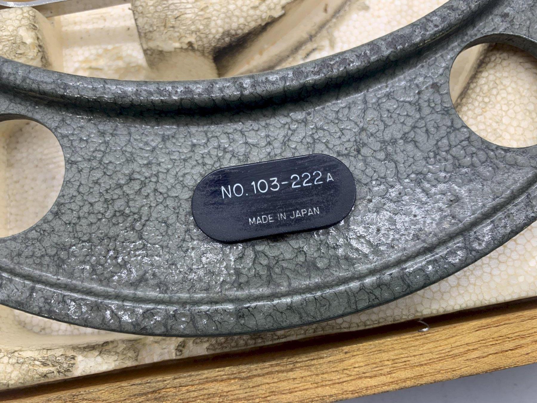 "7-8"" MITUTOYO MICROMETER .0001"" NO.103-222 W/ STANDARD TOOL & BOX STOCK #15540"