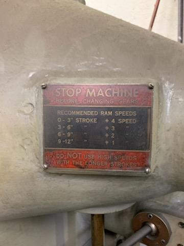 "12"" MOREY 12M VERTICAL SLOTTER. STOCK # 0416121"