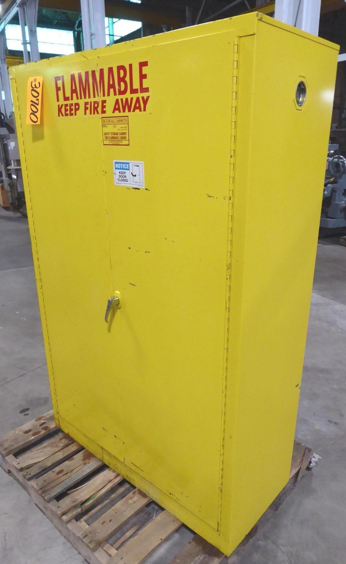 SE-CUR-ALL Flammable Materials Safety Storage Cabinet, Capacity: 45 Gallons