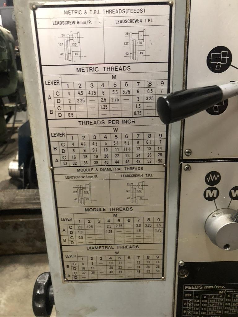 """17"""" X 60"""" SEIKI XL ENGINE LATHE WITH TAPER AND INCH/METRIC THREADING"""