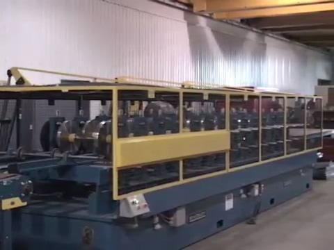 14 Stand Bradbury Door and Side Panel Rollform Line with Punching, Notching, and Shearing