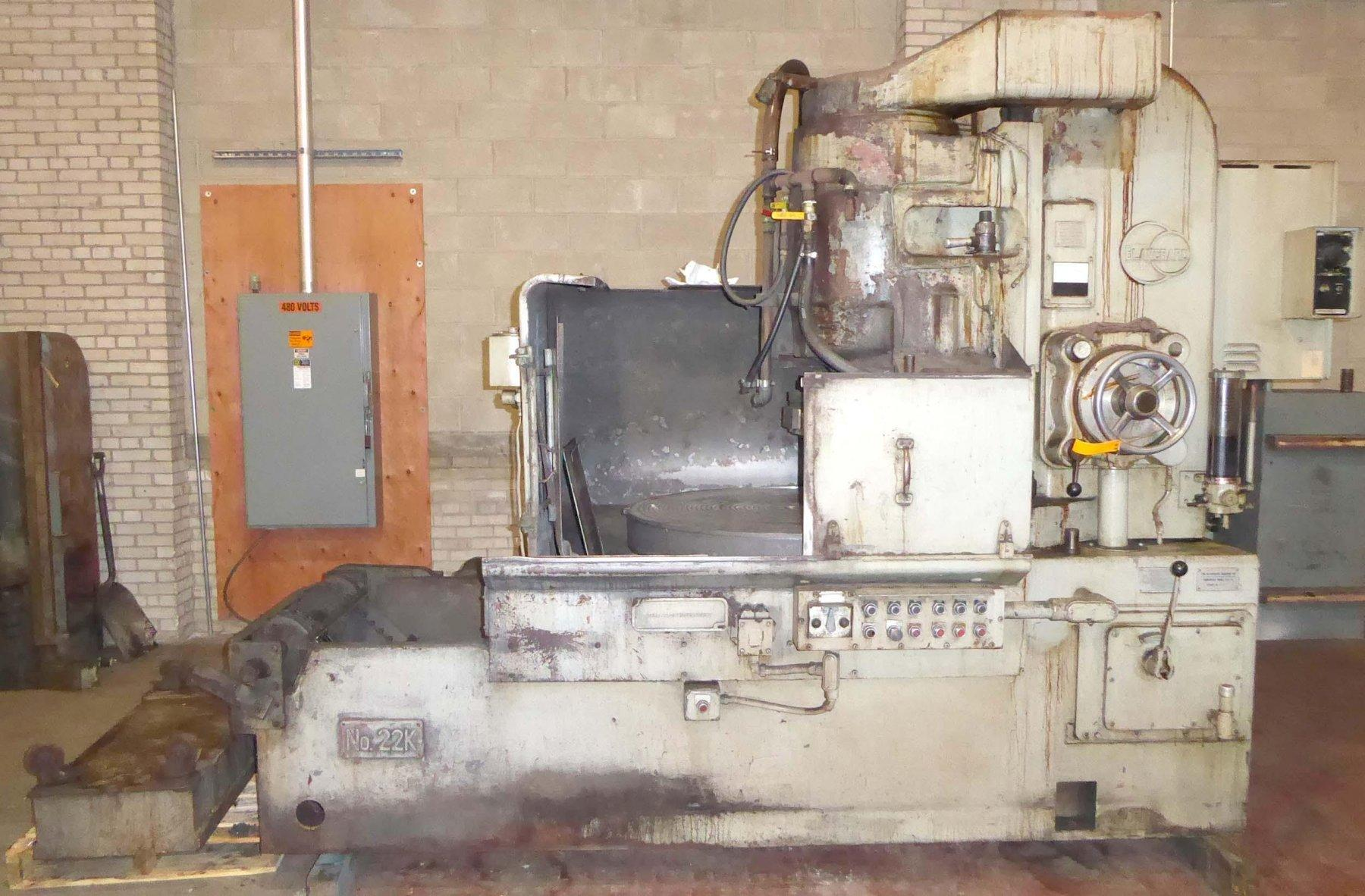 "Blanchard #22K-42, 42"" vertical Spindle Rotary Surface Grinder, Partial Rebuild W/ Warranty"