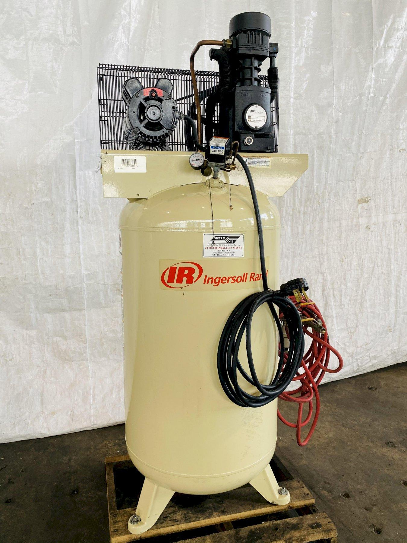 5 HP INGERSOLL- RAND T54WB VERTICAL PISTON TYPE AIR COMPRESSOR. STOCK # 0631521
