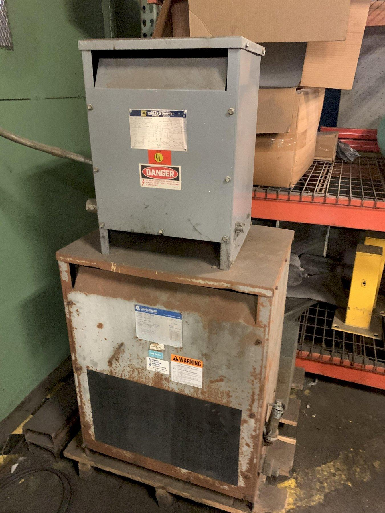 75 KVA CHALLENGER ELECTRIC THREE-PHASE 480 DELTA - 240 DELTA DRY TRANSFORMER: STOCK 12763
