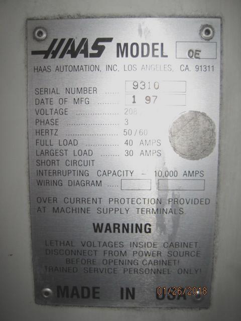 Haas VF-0E Vertical Machining Center