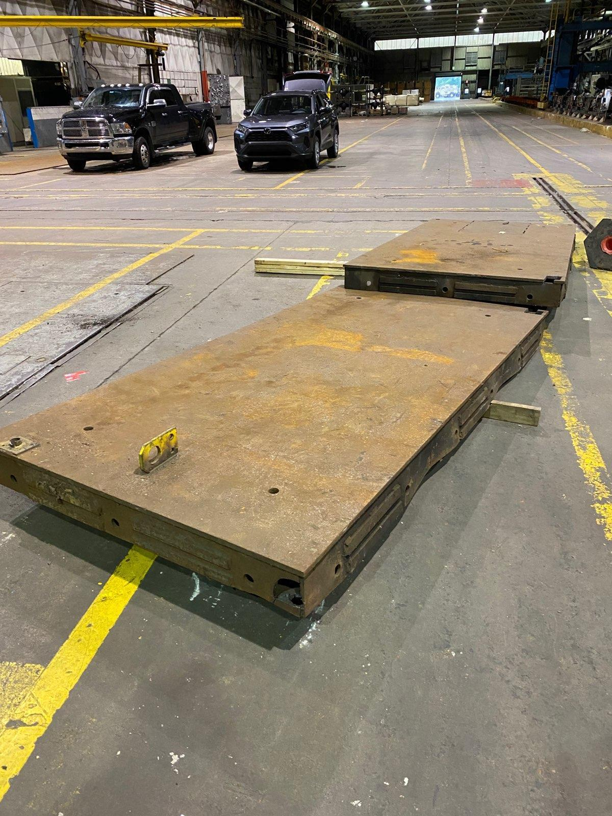 5' X 10' STEEL  WELDING TABLE. STOCK # 0953720