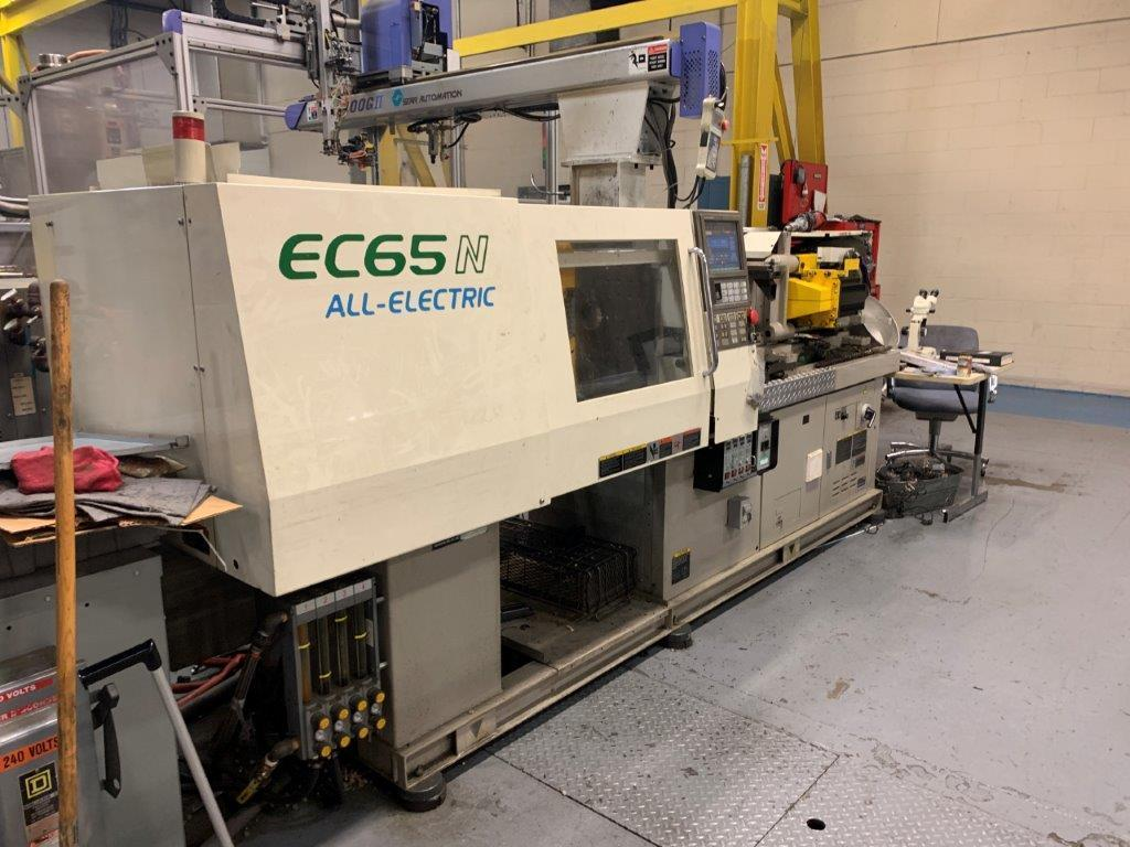 Toshiba Used ECN65NV21-1.5 Electric Injection Molding Machine, 66 US ton, Yr. 2004, 1.8 oz