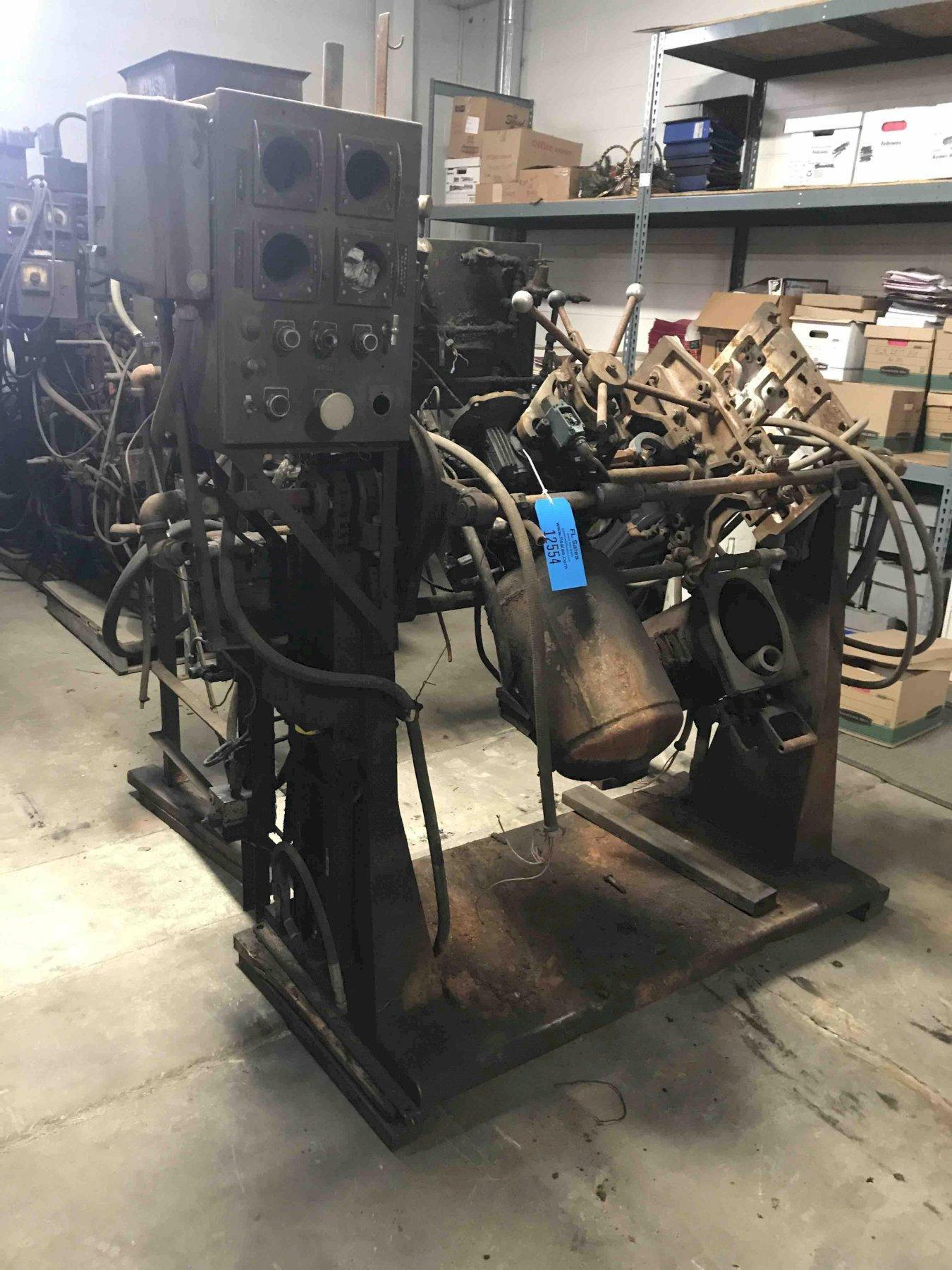"""Dependable model 200fa shell core machine no serial number 17 x 14"""" platen missing rollover motor"""