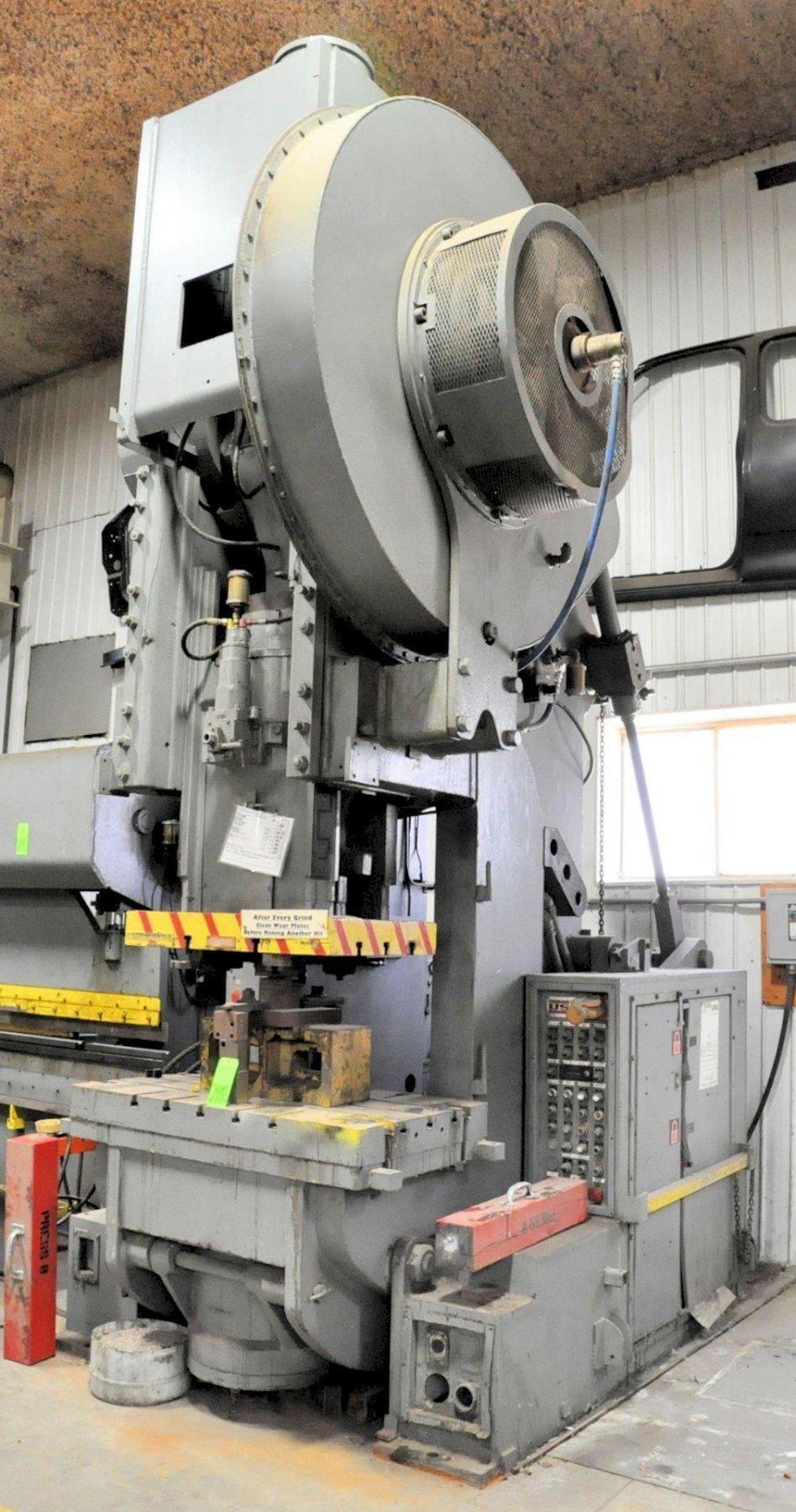 150 TON CLEARING 150-P-701 OBI STAMPING PRESS. STOCK # 0100221