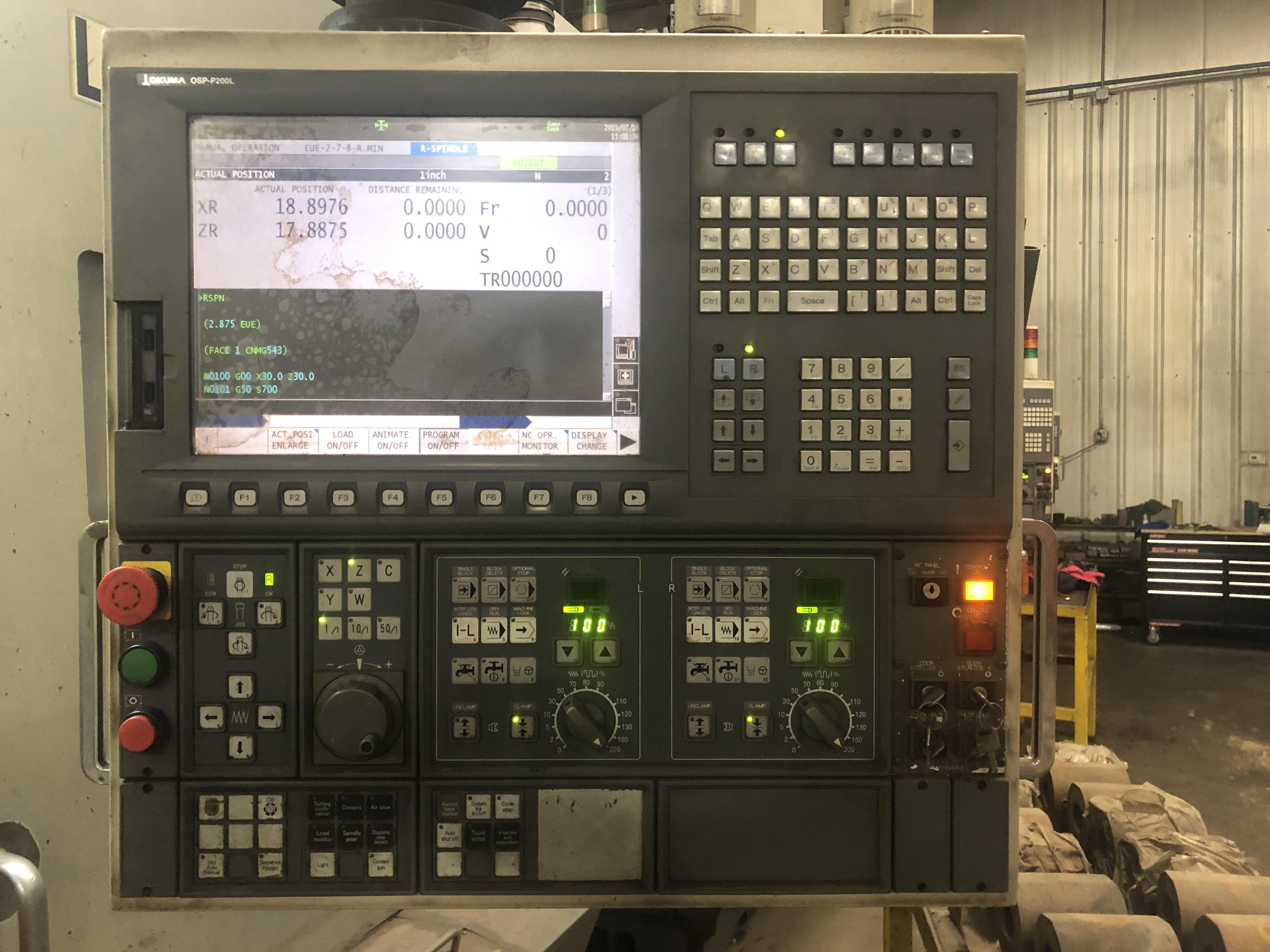 OKUMA 2SP-V40 - Lathes, VTL (Vertical Turret Lathe