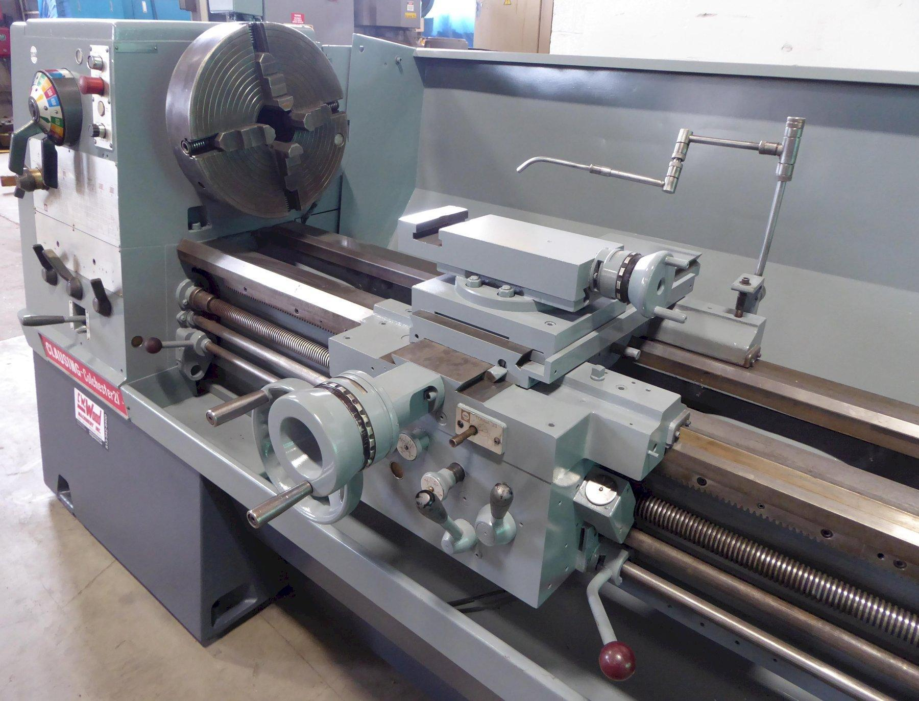 """21"""" x 80"""" CLAUSING COLCHESTER Lathe, 1400 RPM, Inch/mm, 3.5"""" Hole, Clean"""