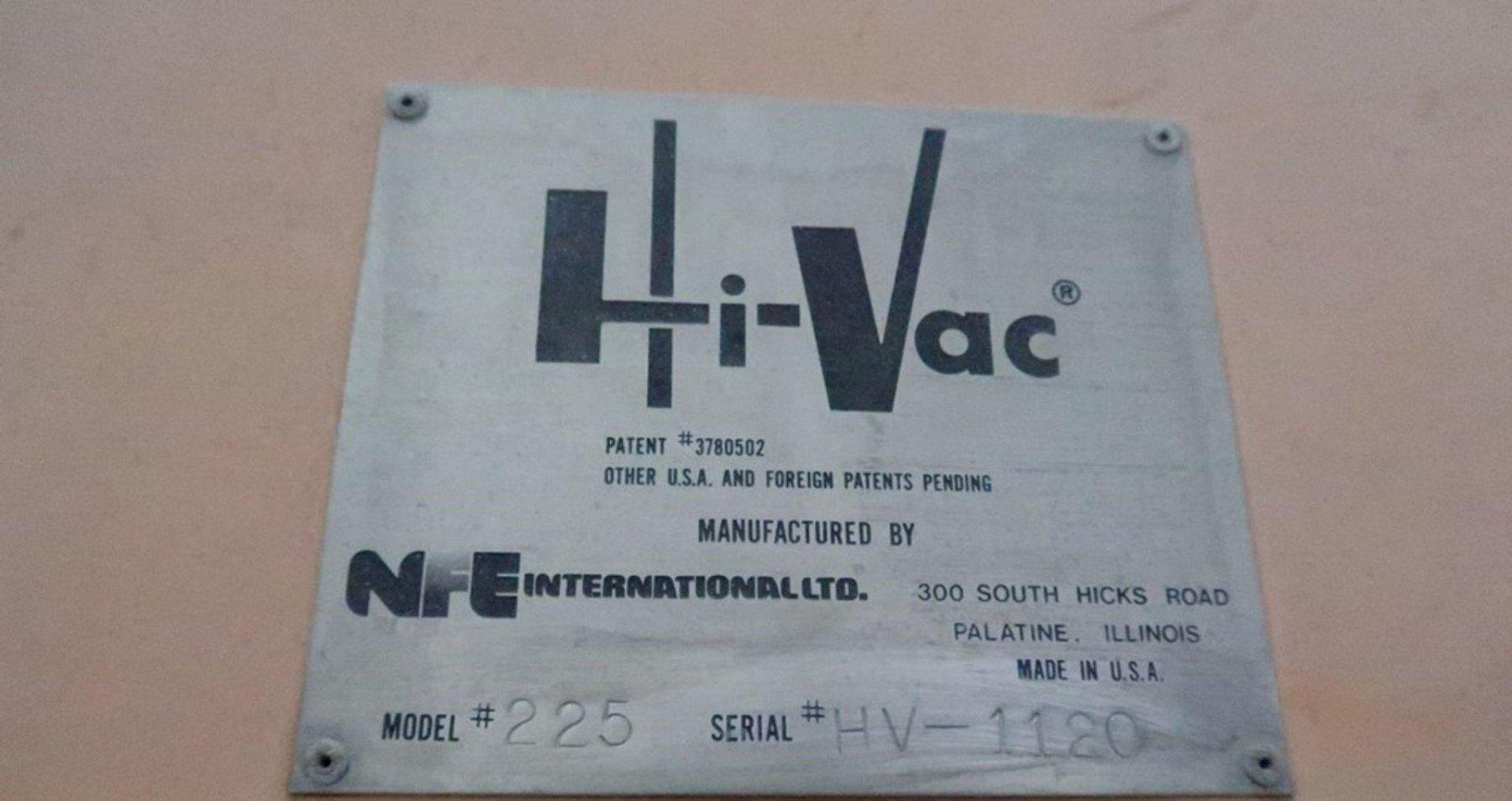 HI-VAC MODEL #225 PORTABLE VACUUM SYSTEM: STOCK #15072