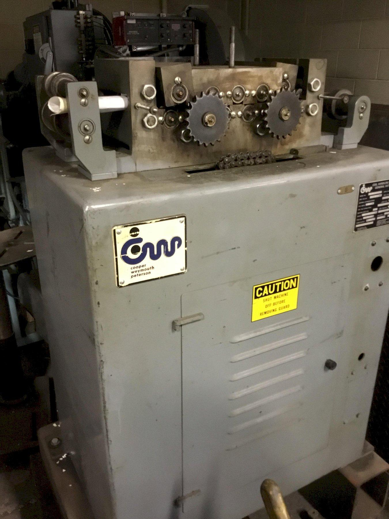 """6"""" WIDE X .125"""" CWP MODEL #6B NON POWERED COIL STRIP STRAIGHTENER: STOCK 11848"""