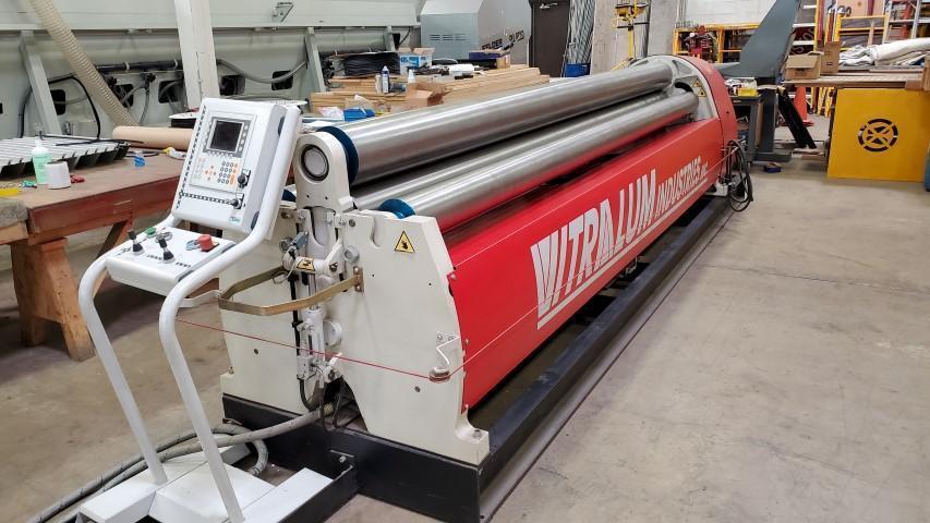 2010 Davi CNC Hydraulic Plate Bending Roll, 12' x 5/32