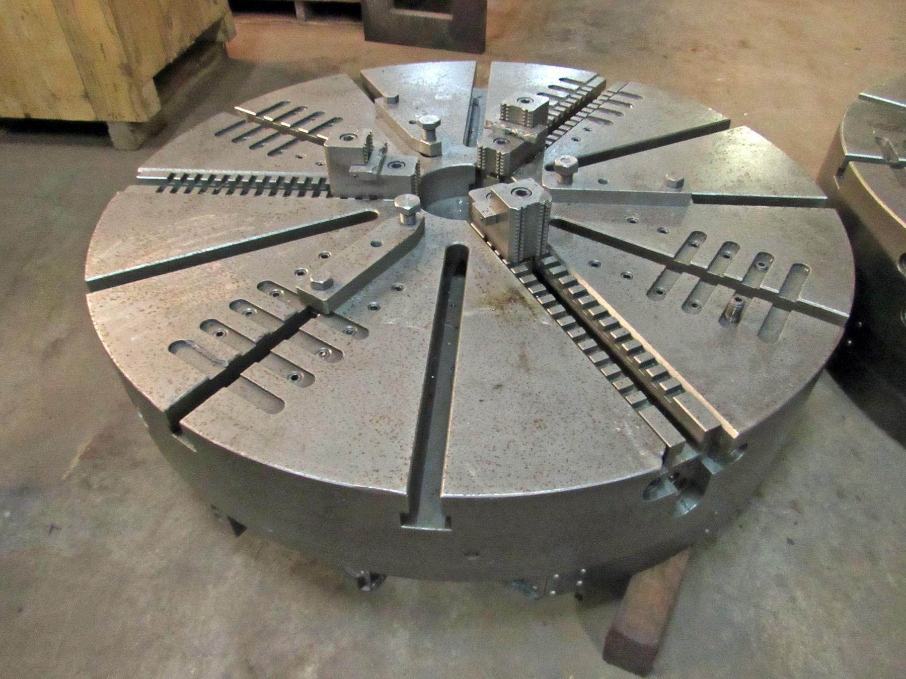 "USED, 48"" 3-JAW CHUCK FROM GIDDINGS & LEWIS VTC 48 CNC VERTICAL BORING MILL"