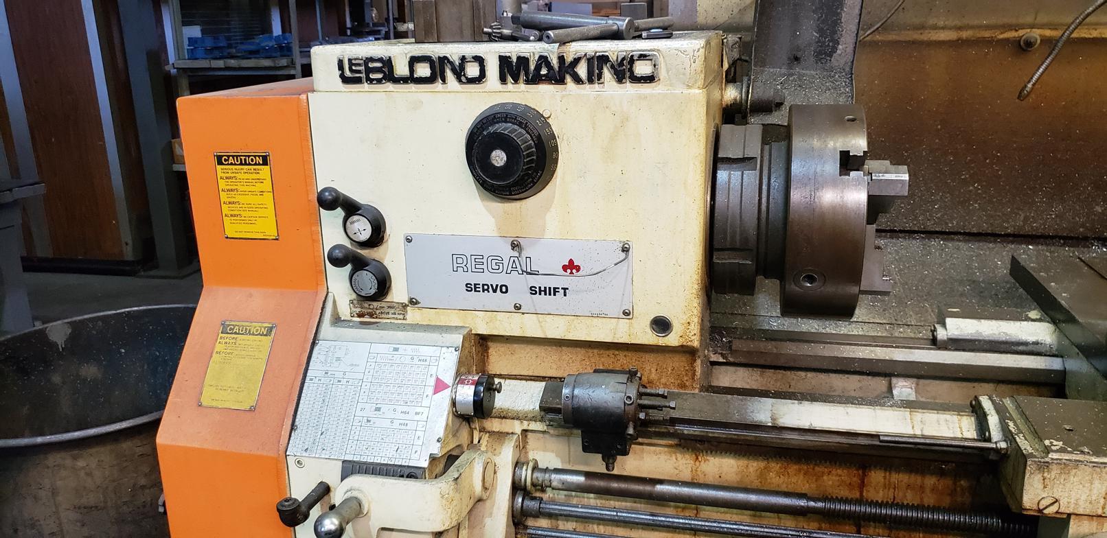 "20"" X 80"" LEBLOND MAKINO REGAL SERVO SHIFT LATHE. STOCK # 0954120"