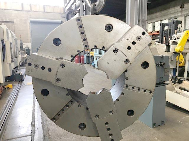 "31"" ROTOMORS 3-JAW Hydraulic Chuck with 15"" Bore, Model MC-ID, 15.15"" Hole, 20mm Jaw Stroke, 55,000 LBS Clamp Force."