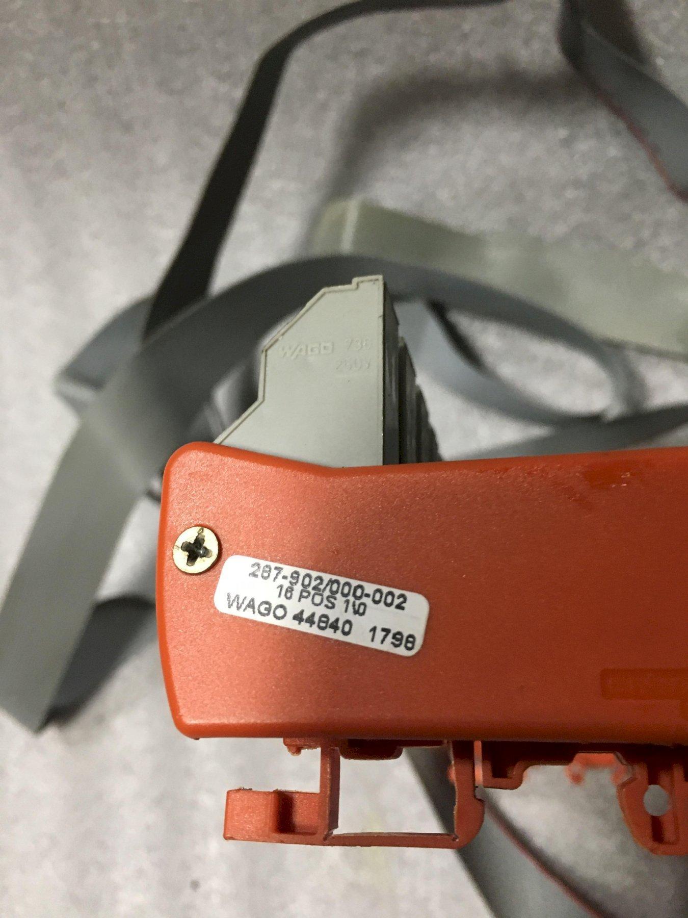 WAGO RELAY BOARD, 287-902/000-002, 16 POS I/O MOD.